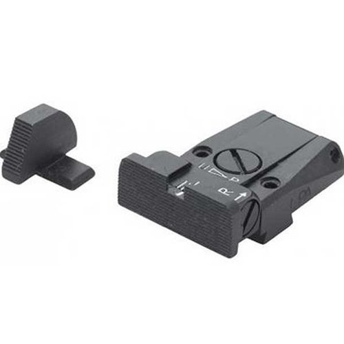 Sig Sauer Adjustable Sight Set, Black, Serrated