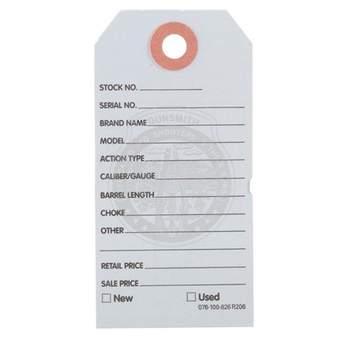 500 Brownells Gun Price Tags, Light Blue