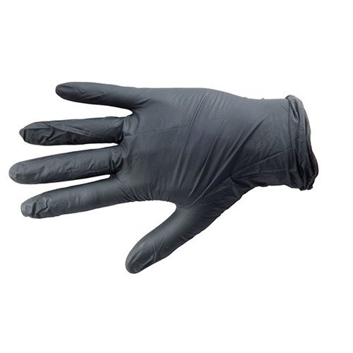 Black Nitrile Industrial Glove, Textured, X-Large