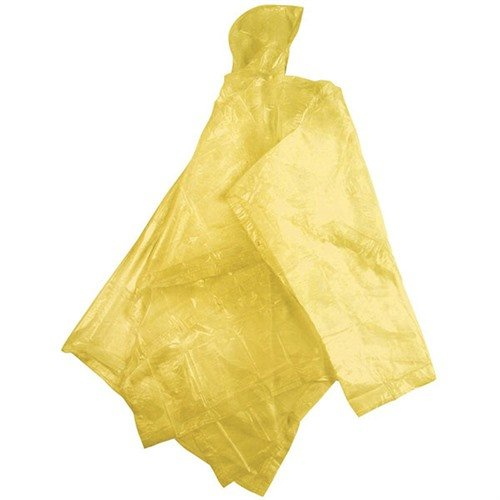 "Adult Peva Poncho-52""x80""-Yellow"