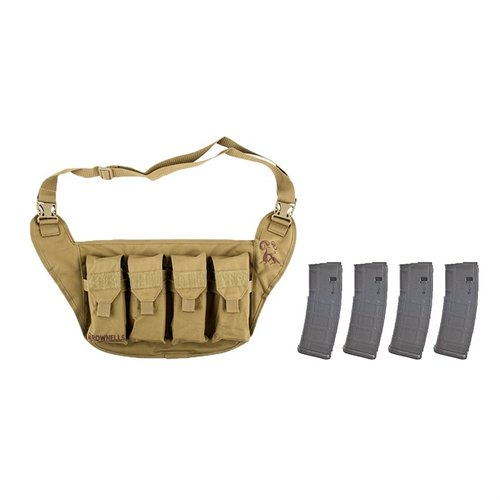 Deluxe Magazine Pouch Tan w/ 4-pk 30-RD PMAGs