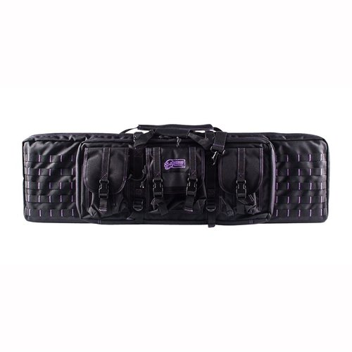 "42"" Padded Weapon Case Black with Purple Stitching"
