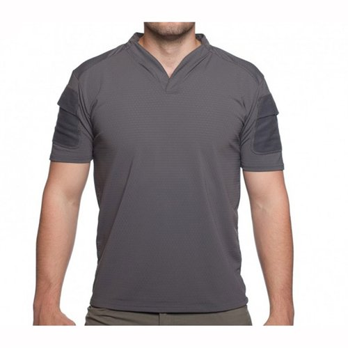 Boss Rugby Shirt Short Sleeve Wolf Grey Med
