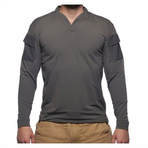Boss Rugby Shirt Long Sleeve Wolf Grey Sm