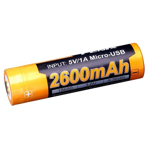 18650 (3.6V) 2600 mAH Rechargeable Li-ion Battery