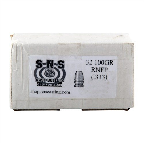 "32 Cal (.313"") 100gr RNFP Lead Bullets 500/Box"